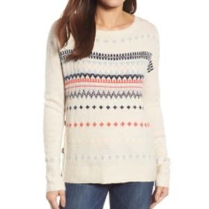 Caslon Fair Isle Side Button Sweater New With Tags